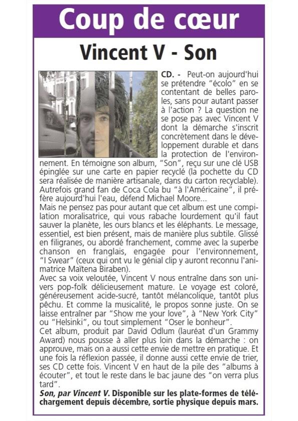 """Courrier_Vendeen Chronique de """"Son"""" dans le Courrier Vendéen"""